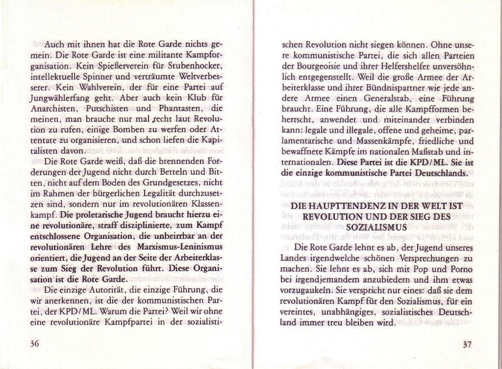 RG_Broschüre: Wofür kämpft die Rote Garde? (Mai 1978), Seite 36f.