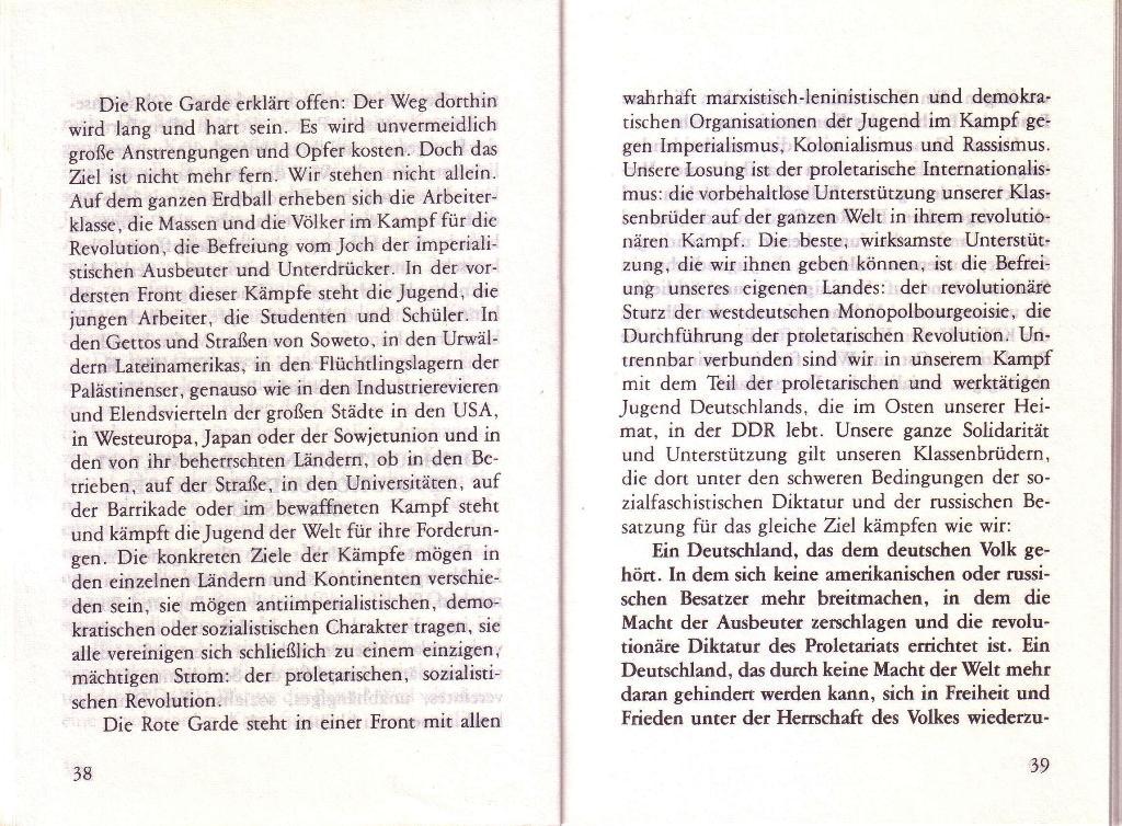 RG_Broschüre: Wofür kämpft die Rote Garde? (Mai 1978), Seite 38f.