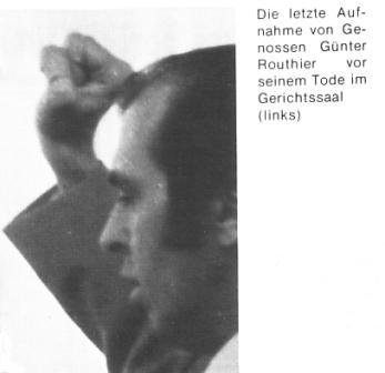 Das letzte Foto von Günter Routhier vor seinem Tod im Gerichtssaal