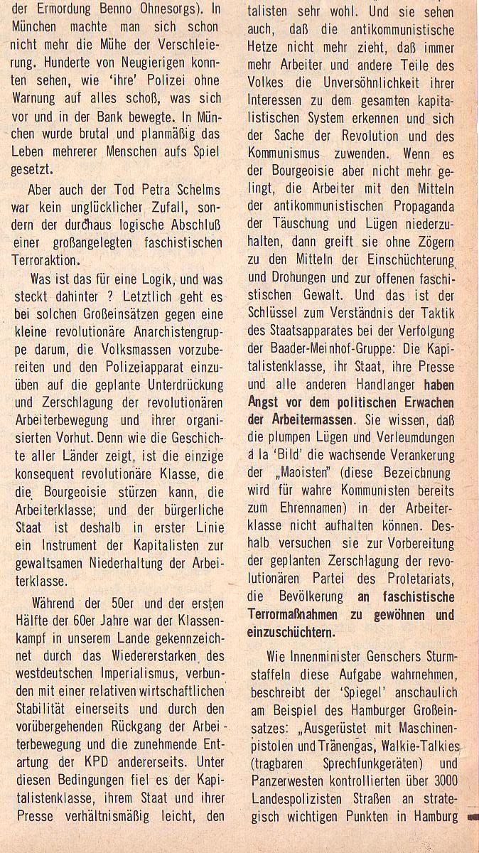 aus: Roter Morgen, 5. Jg., August 1971, Nr. 8, Seite 1b