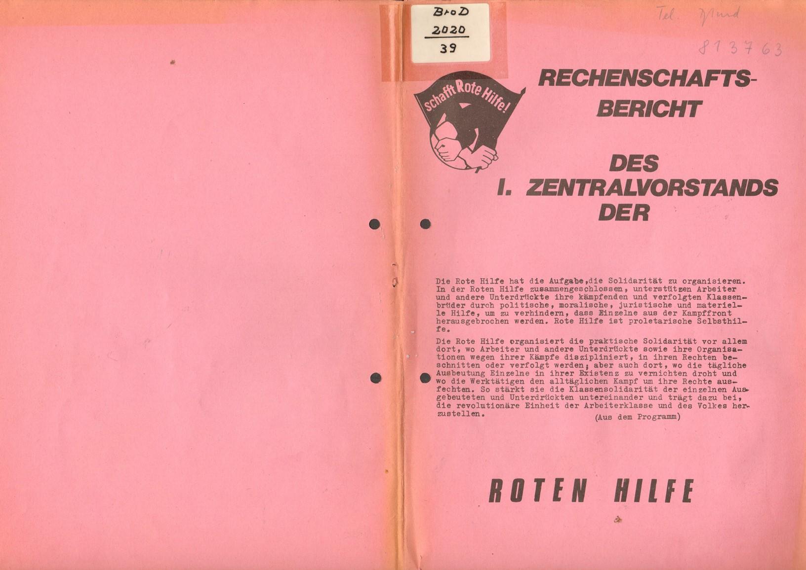 Dortmund_RHev_1974_Rechenschaftsbericht_01