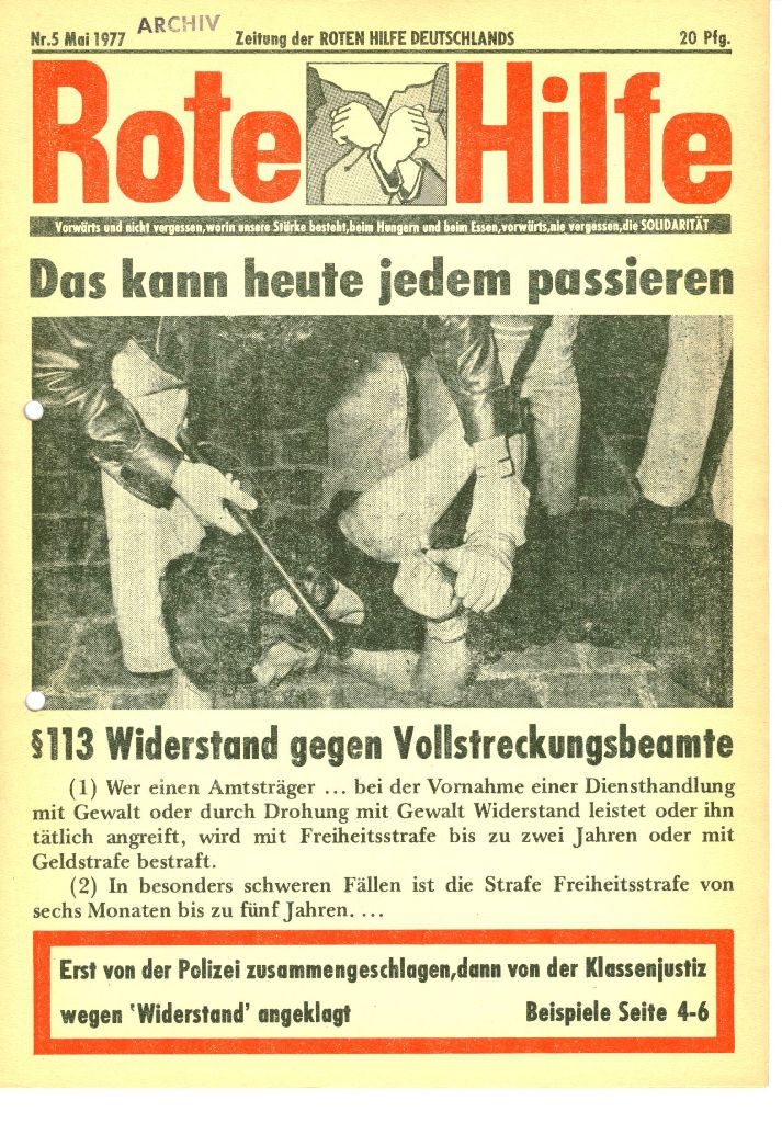 Rote Hilfe Nr. 5, Mai 1977