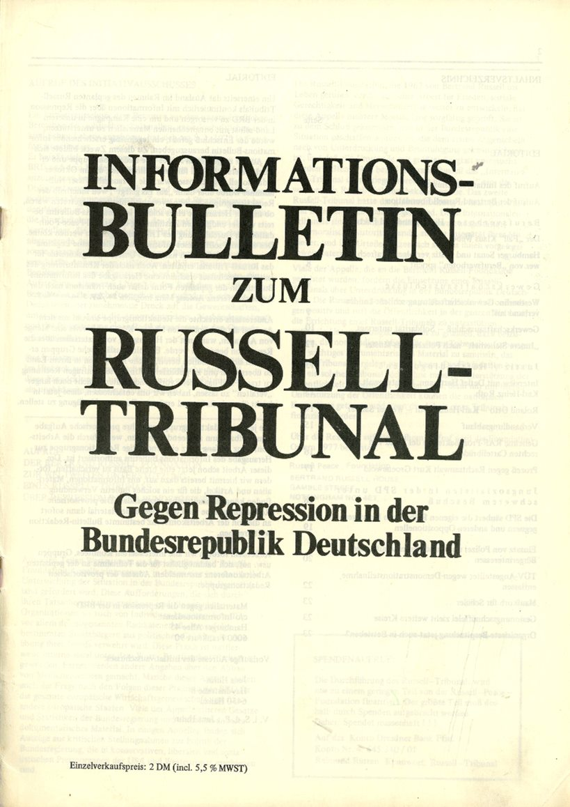 Initiativausschuss_Russell_Tribunal_Informationsbulletin_1977_01