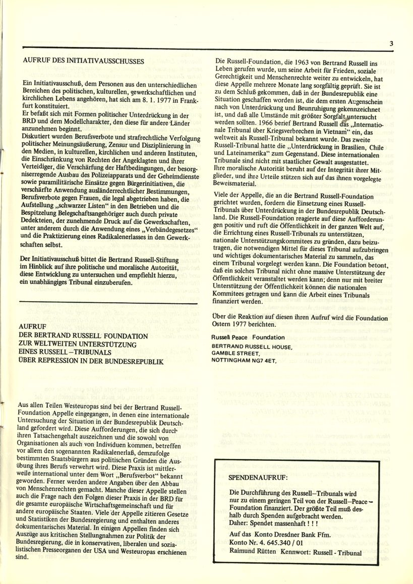 Initiativausschuss_Russell_Tribunal_Informationsbulletin_1977_03
