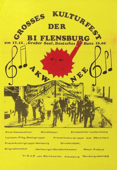 Plakat: Großes Kulturfest der BI Flensburg