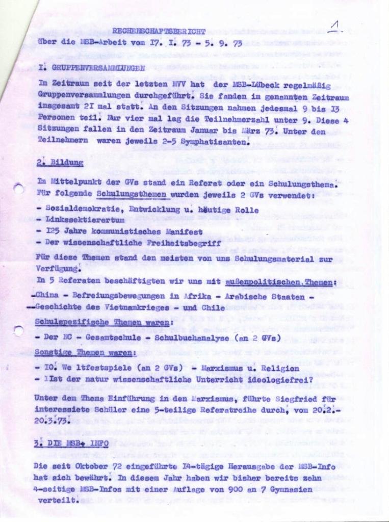 MSB_Rechenschaftsbericht, 1973, Seite 3