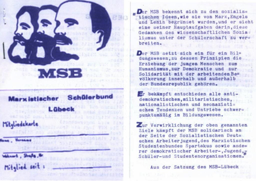 MSB, Vertrauliche Mitteilung