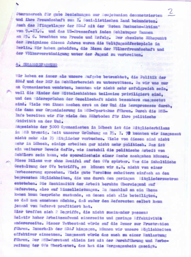 MSB_Rechenschaftsbericht, 1973, Seite 5