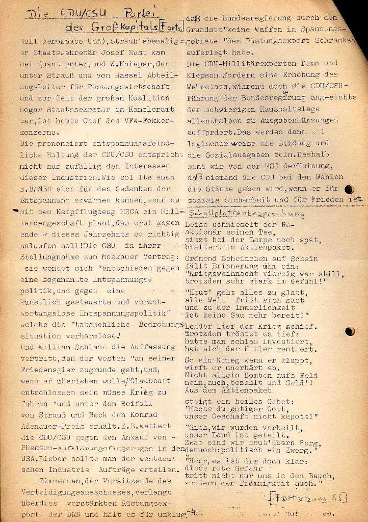 Marxistische Schülergruppe OzD: Info, Nr. 2, Lübeck, Dez. 1971, Seite 4
