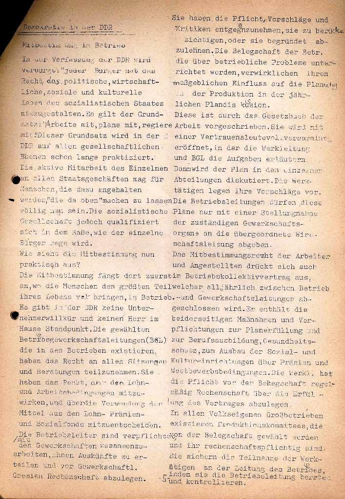 Marxistische Schülergruppe OzD: Info, Nr. 2, Lübeck, Dez. 1971, Seite 5