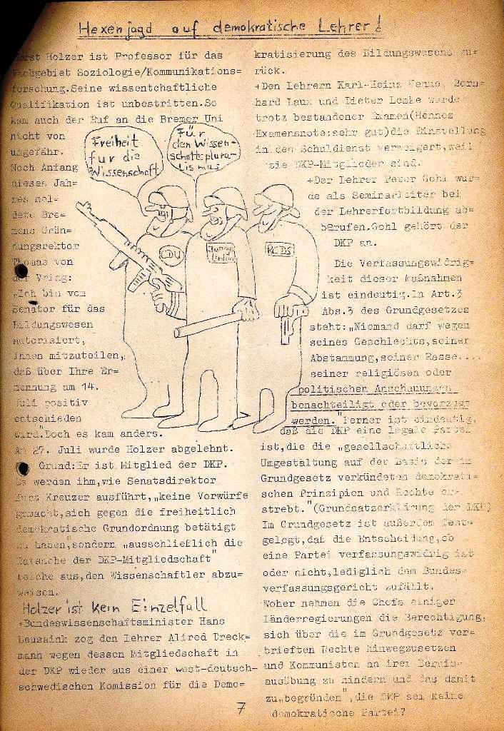 Marxistische Schülergruppe OzD: Info, Nr. 2, Lübeck, Dez. 1971, Seite 7