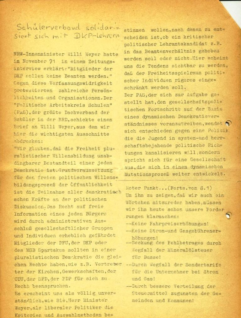Marxistische Schülergruppe OzD: Info, Nr. 3, Lübeck, Jan. 1972, Seite 2