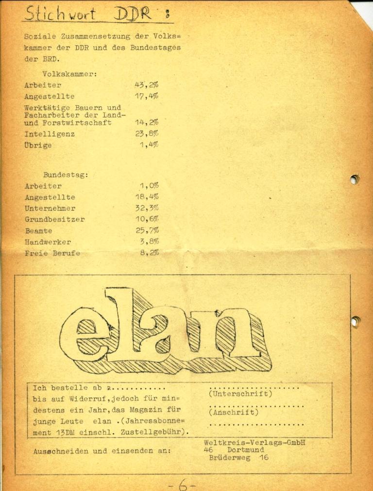 Marxistische Schülergruppe OzD: Info, Nr. 3, Lübeck, Jan. 1972, Seite 6