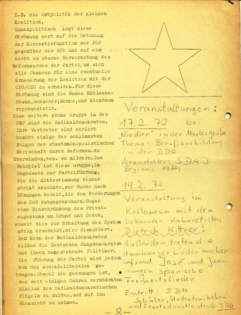 Marxistische Schülergruppe OzD: Info, Nr. 3, Lübeck, Jan. 1972, Seite 8
