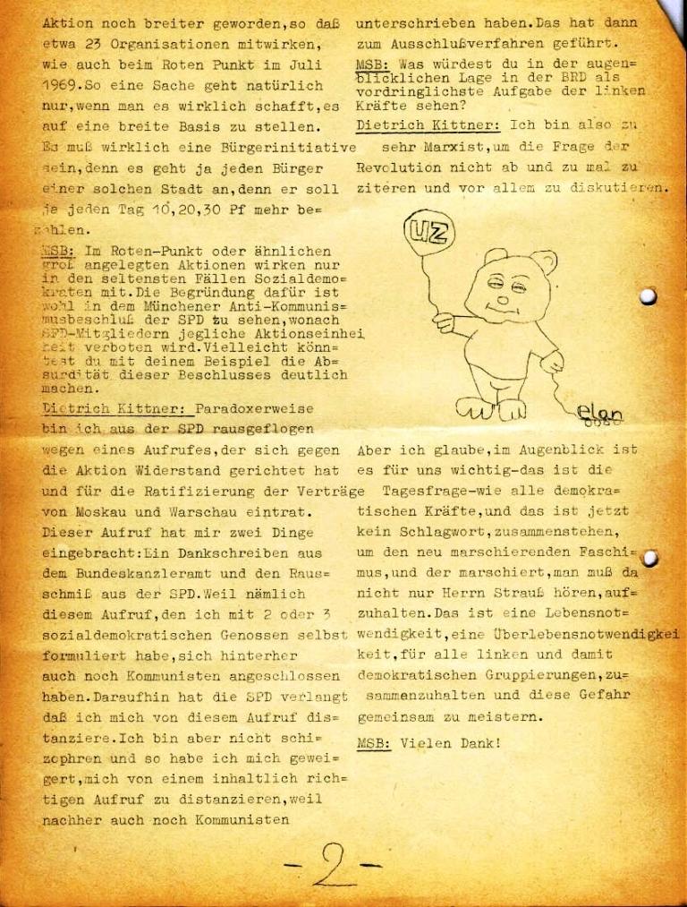Marxistischer Schülerbund: Info, Nr. 4, Lübeck, Feb. 1972, Seite 2