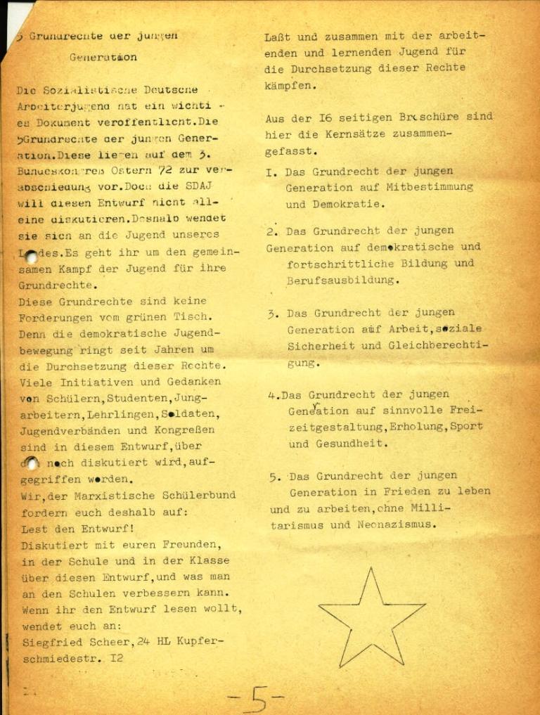 Marxistischer Schülerbund: Info, Nr. 4, Lübeck, Feb. 1972, Seite 5