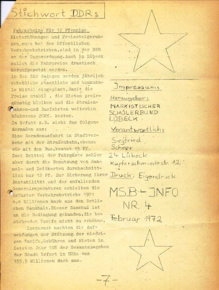 Marxistischer Schülerbund: Info, Nr. 4, Lübeck, Feb. 1972, Seite 7