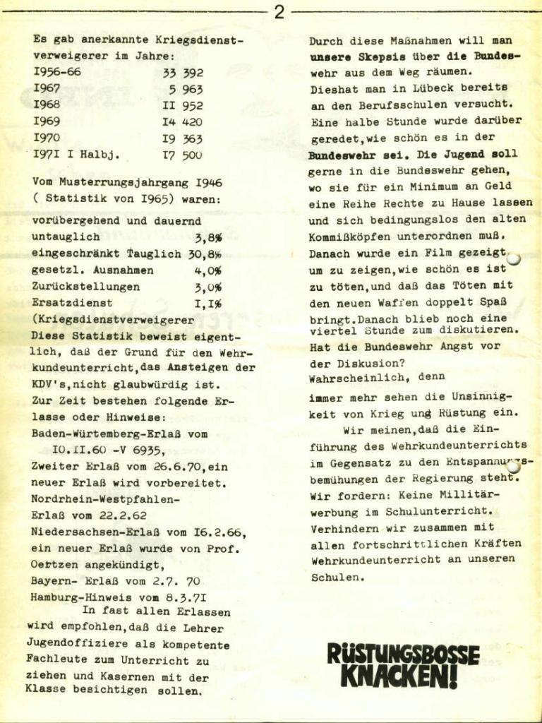 Marxistischer Schülerbund: Info, Nr. 5, Lübeck, 1972, Seite 2