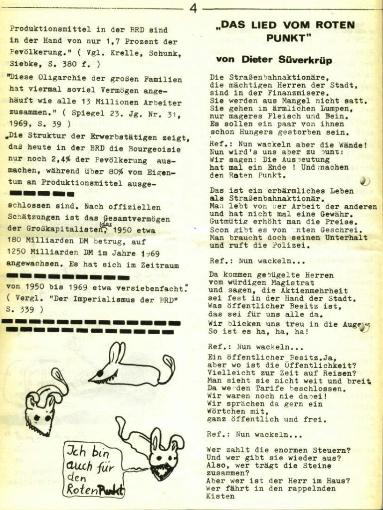 Marxistischer Schülerbund: Info, Nr. 5, Lübeck, 1972, Seite 4