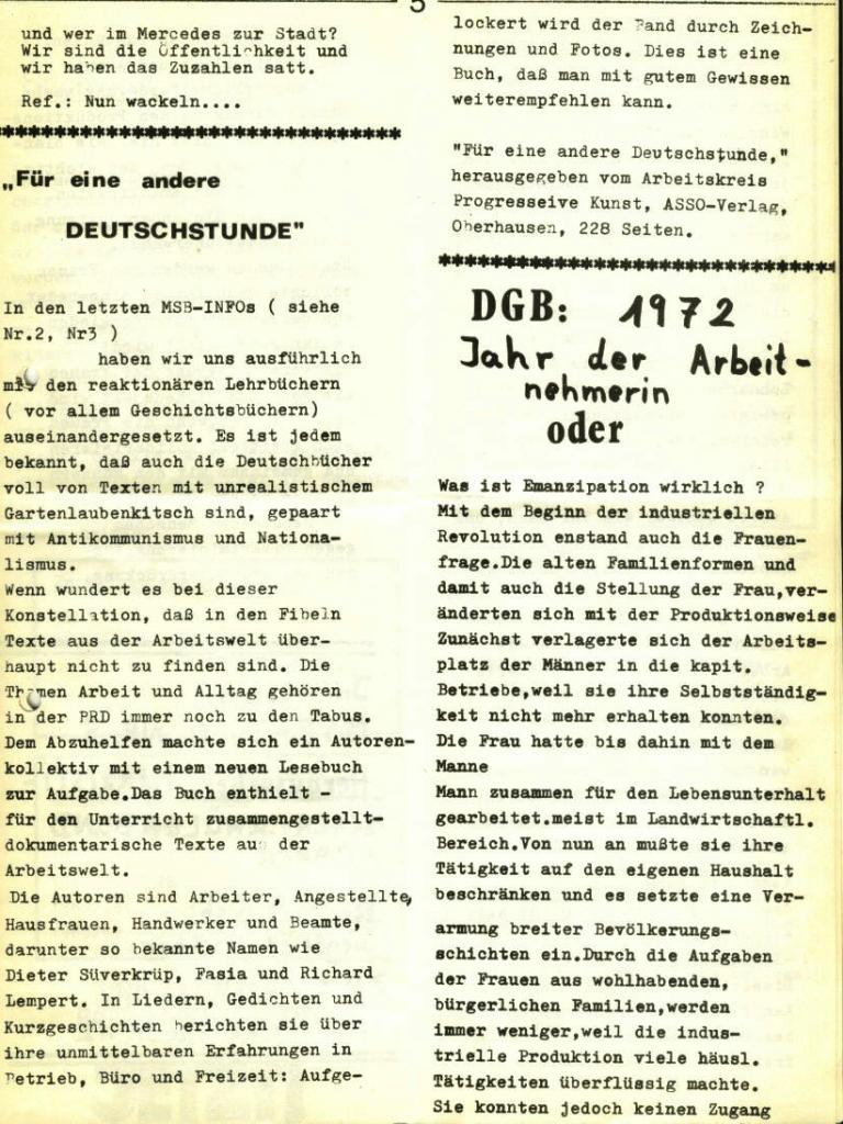 Marxistischer Schülerbund: Info, Nr. 5, Lübeck, 1972, Seite 5