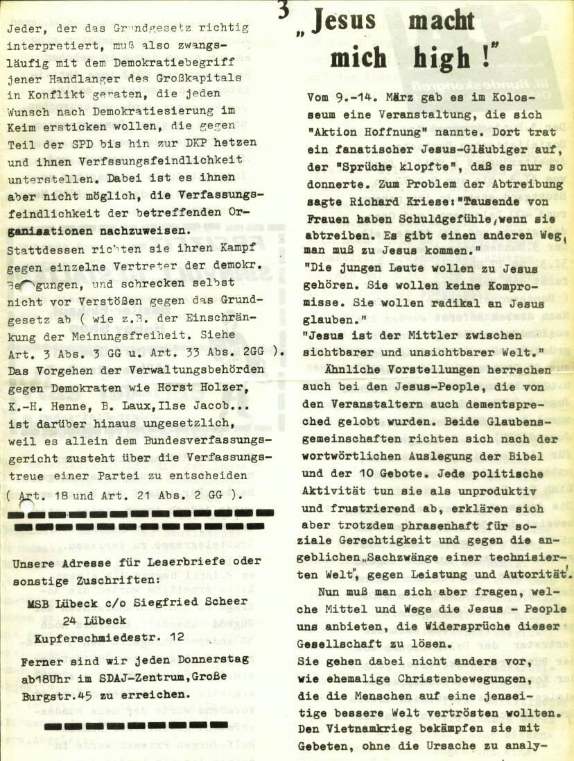 Marxistischer Schülerbund: Info, Nr. 6, Lübeck, April 1972, Seite 3