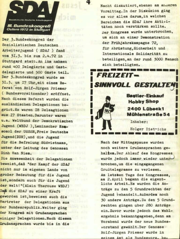 Marxistischer Schülerbund: Info, Nr. 6, Lübeck, April 1972, Seite 4