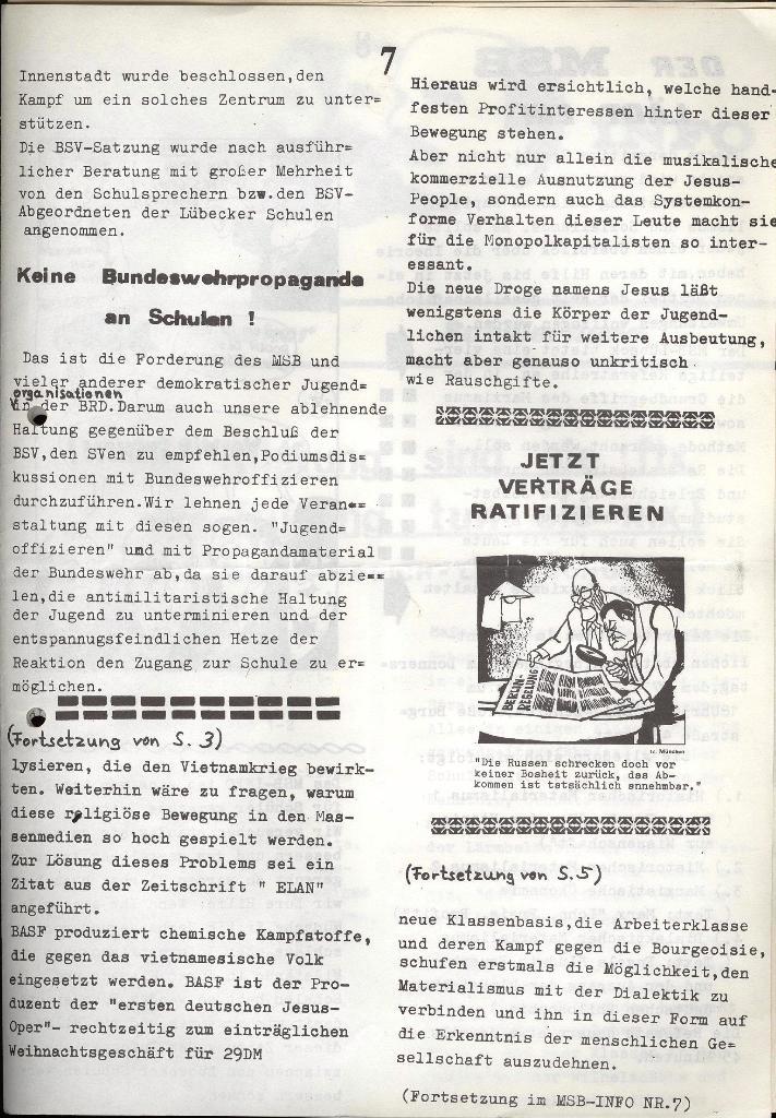 Marxistischer Schülerbund: Info, Nr. 6, Lübeck, April 1972, Seite 7