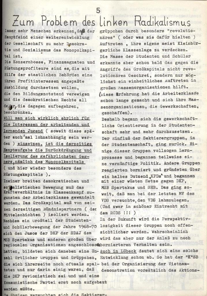 Marxistischer Schülerbund: Info, Nr. 7, Lübeck, Mai/Juni 1972, Seite 5