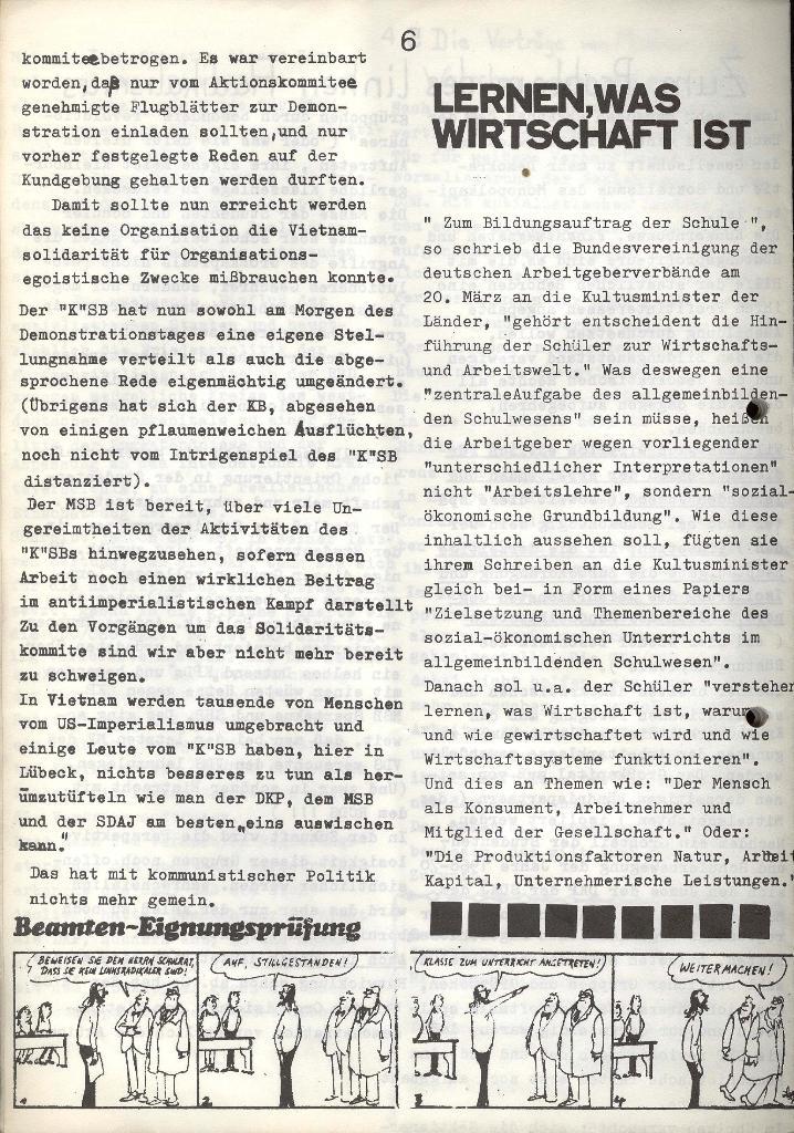 Marxistischer Schülerbund: Info, Nr. 7, Lübeck, Mai/Juni 1972, Seite 6