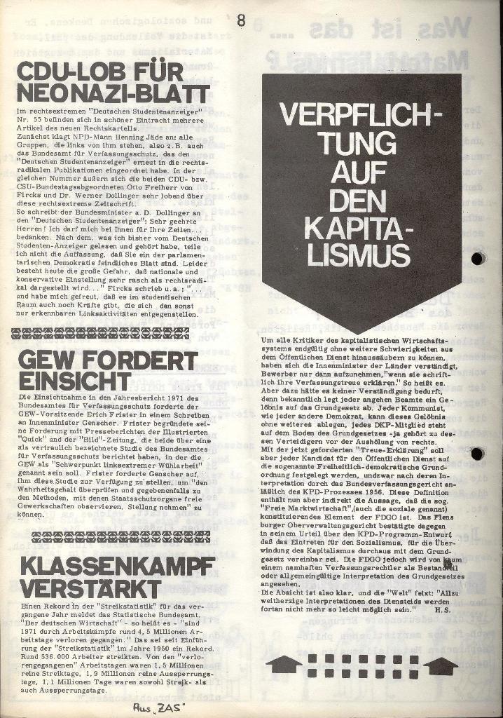 Marxistischer Schülerbund: Info, Nr. 7, Lübeck, Mai/Juni 1972, Seite 8