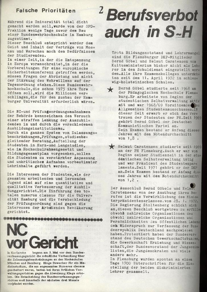 Marxistischer Schülerbund: Info, Nr. 8, Lübeck, Juli 1972, Seite 2