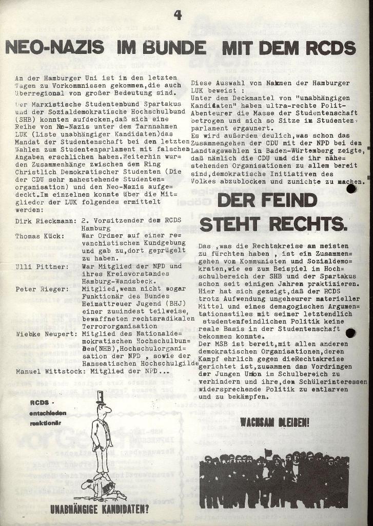 Marxistischer Schülerbund: Info, Nr. 8, Lübeck, Juli 1972, Seite 4