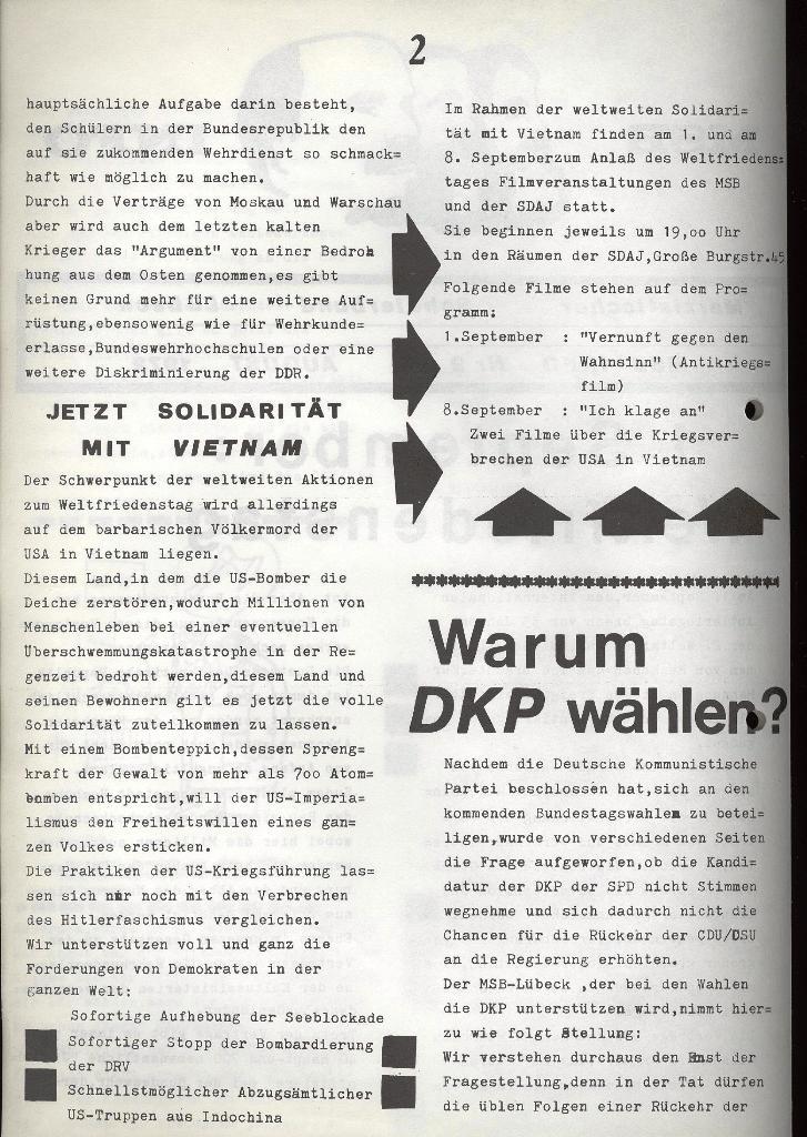 Marxistischer Schülerbund: Info, Nr. 9, Lübeck, Juli 1972, Seite 2