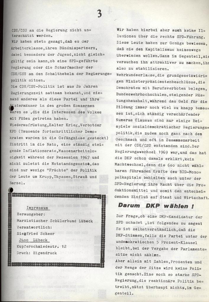 Marxistischer Schülerbund: Info, Nr. 9, Lübeck, Juli 1972, Seite 3