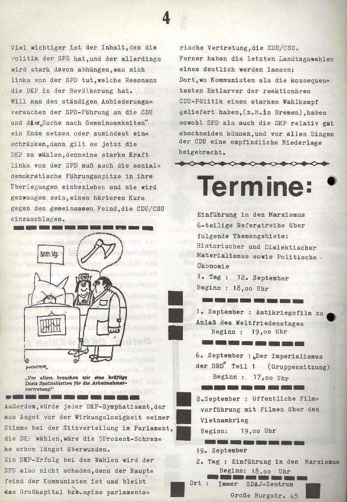Marxistischer Schülerbund: Info, Nr. 9, Lübeck, Juli 1972, Seite 4