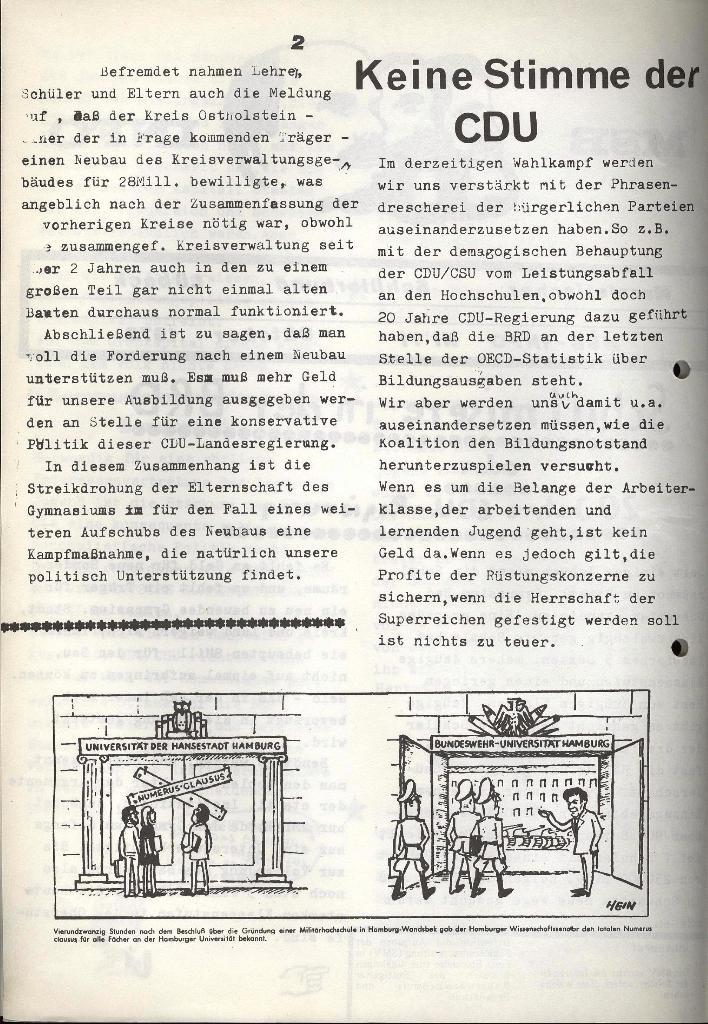 Marxistischer Schülerbund: Info, Nr. 11, Lübeck, Oktober 1972, Seite 2