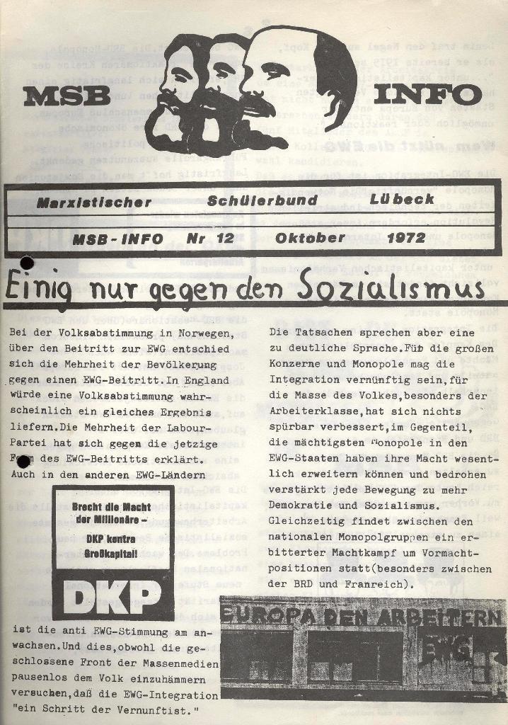 Marxistischer Schülerbund: Info, Nr. 12, Lübeck, Oktober 1972, Seite 5