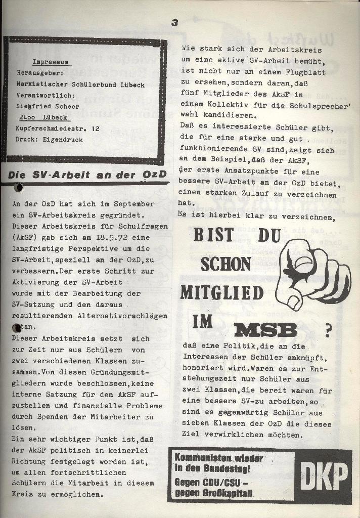 Marxistischer Schülerbund: Info, Nr. 12, Lübeck, Oktober 1972, Seite 7