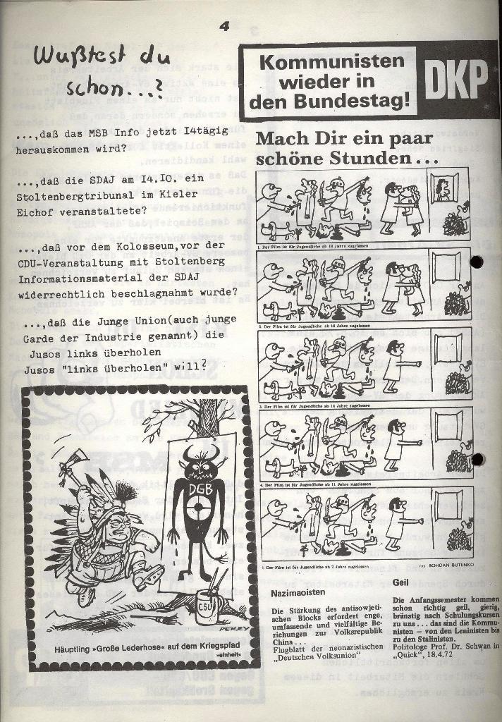 Marxistischer Schülerbund: Info, Nr. 12, Lübeck, Oktober 1972, Seite 8