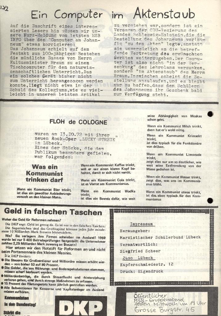 Marxistischer Schülerbund: Info, Nr. 13, Lübeck, November 1972, Seite 2