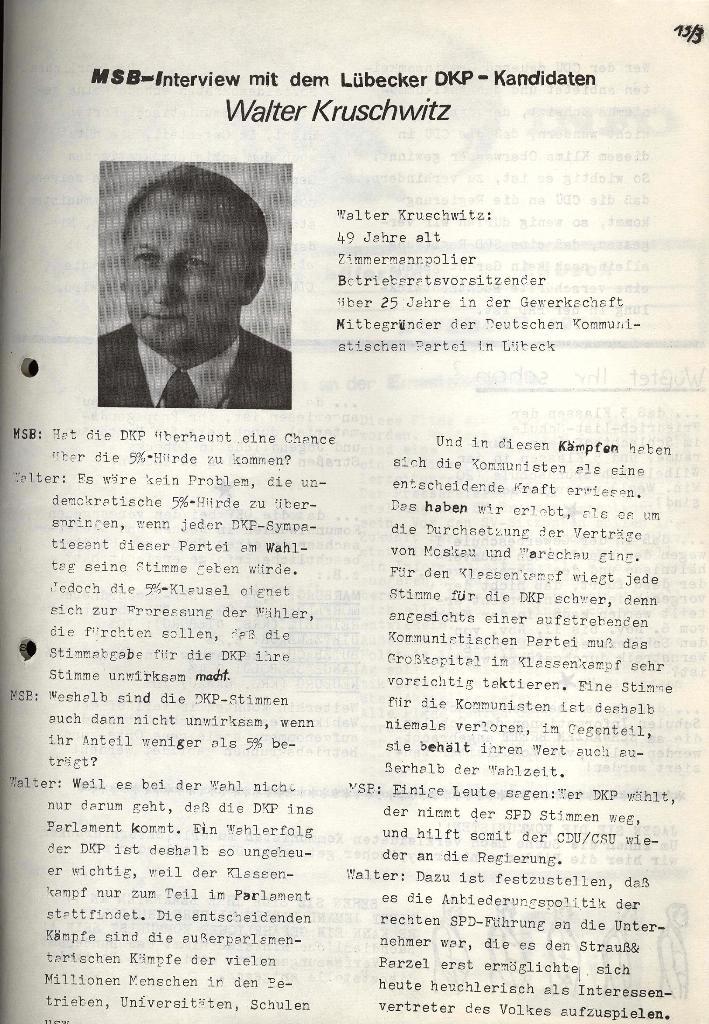 Marxistischer Schülerbund: Info, Nr. 13, Lübeck, November 1972, Seite 3