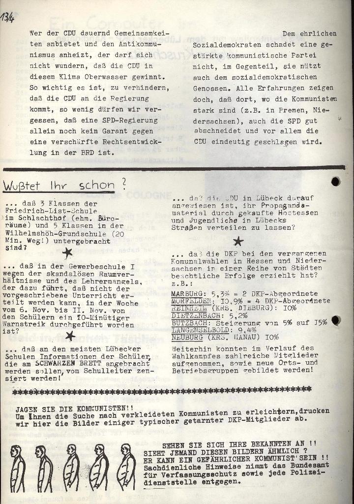 Marxistischer Schülerbund: Info, Nr. 13, Lübeck, November 1972, Seite 4