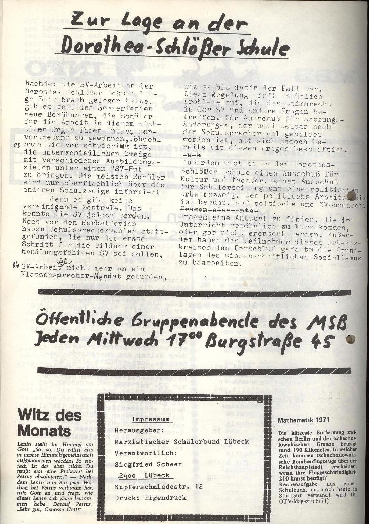 Marxistischer Schülerbund: Info, Nr. 14, Lübeck, November 1972, Seite 2