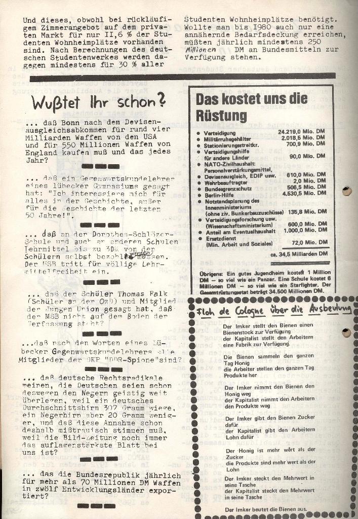 Marxistischer Schülerbund: Info, Nr. 14, Lübeck, November 1972, Seite 4