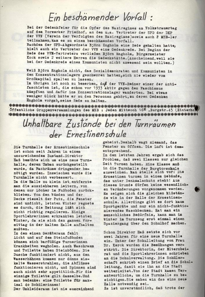 Marxistischer Schülerbund: Info, Nr. 15, Lübeck, Dezember 1972, Seite 2
