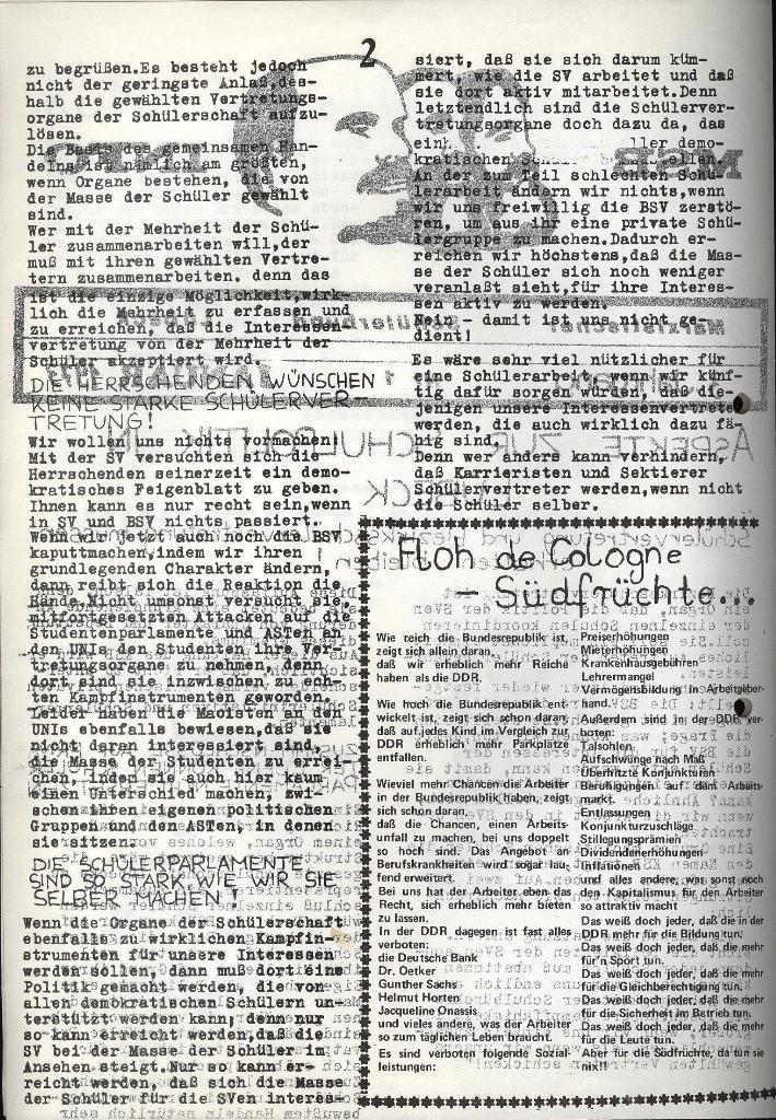 Marxistischer Schülerbund: Info, 3. Jg., Nr. 1, Lübeck, Januar 1973, Seite 2