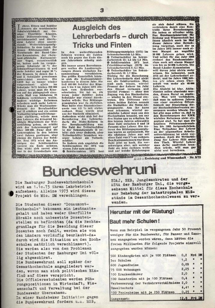 Marxistischer Schülerbund: Info, 3. Jg., Nr. 3, Lübeck, Februar 1973, Seite 3