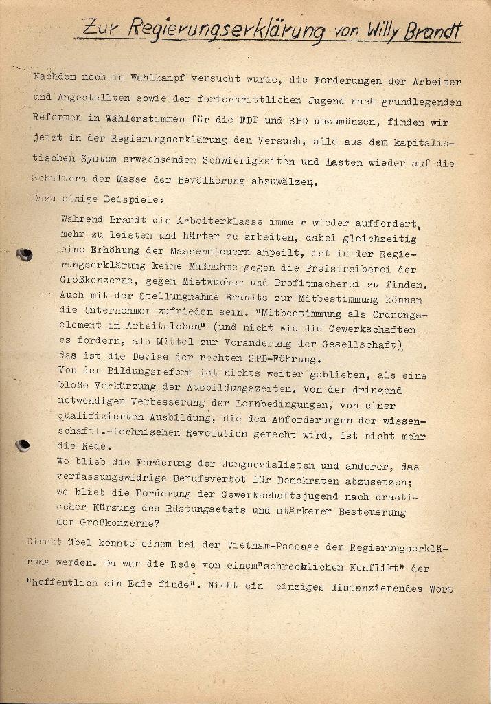 Marxistischer Schülerbund: Info, 3. Jg., Nr. 3, Lübeck, Februar 1973, Beilage, Seite 1