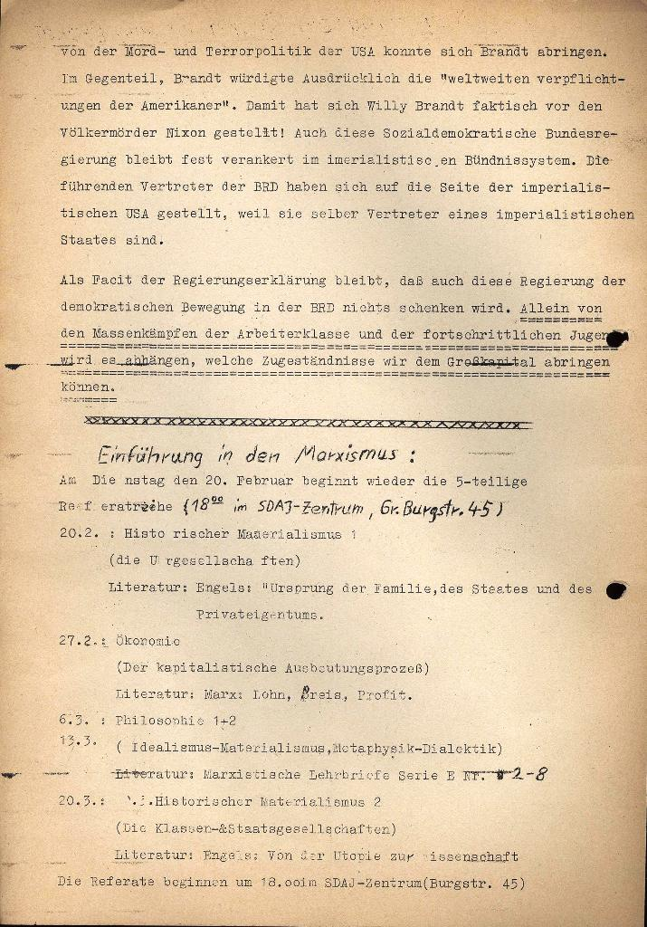Marxistischer Schülerbund: Info, 3. Jg., Nr. 3, Lübeck, Februar 1973, Beilage, Seite 2