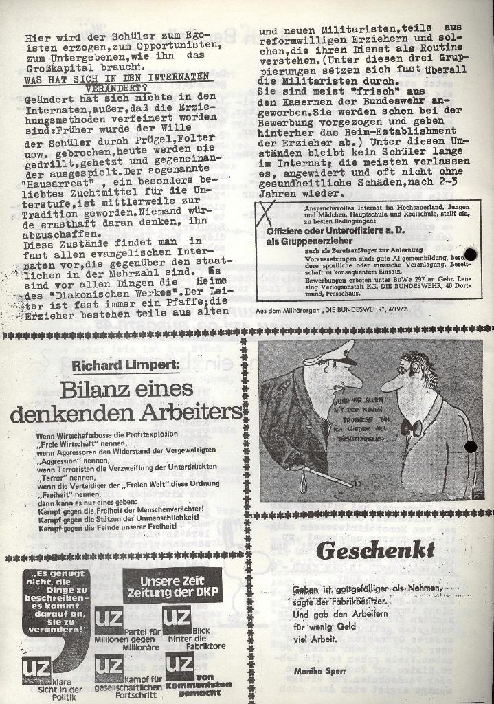Marxistischer Schülerbund: Info, 3. Jg., Nr. 4, Lübeck, Februar 1973, Seite 4